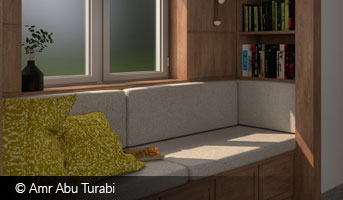 Reading Corner by Amr Abu Turabi